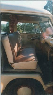sièges cabine avant