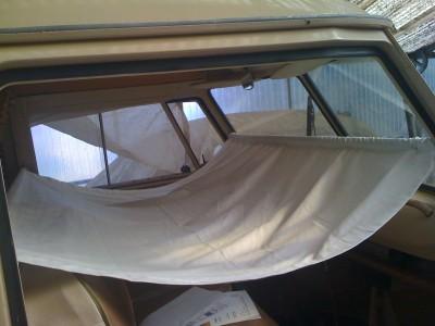 hamac en place dans le combi