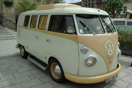 carte postale vw combi split