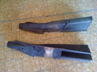 cornes de châssis coupées