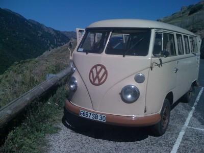 vw combi a la montagne 2011
