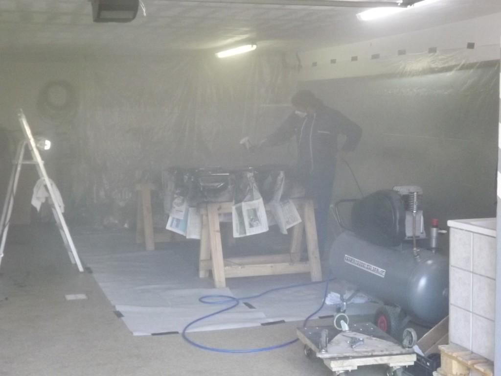 cabine peinture pour cox flat4me mes vw aircooled cox combi. Black Bedroom Furniture Sets. Home Design Ideas