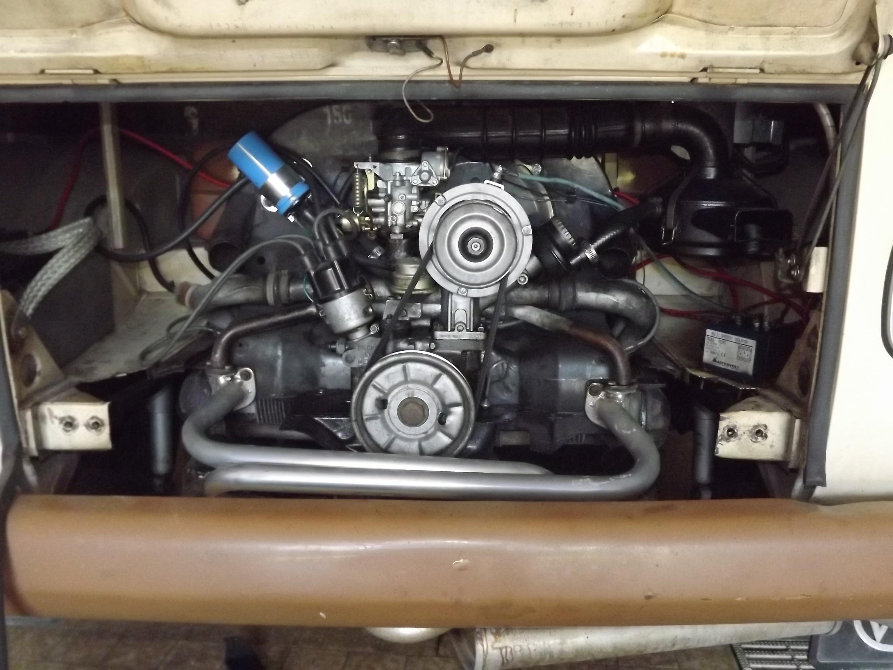 compartiment moteur 1600 da combi vw
