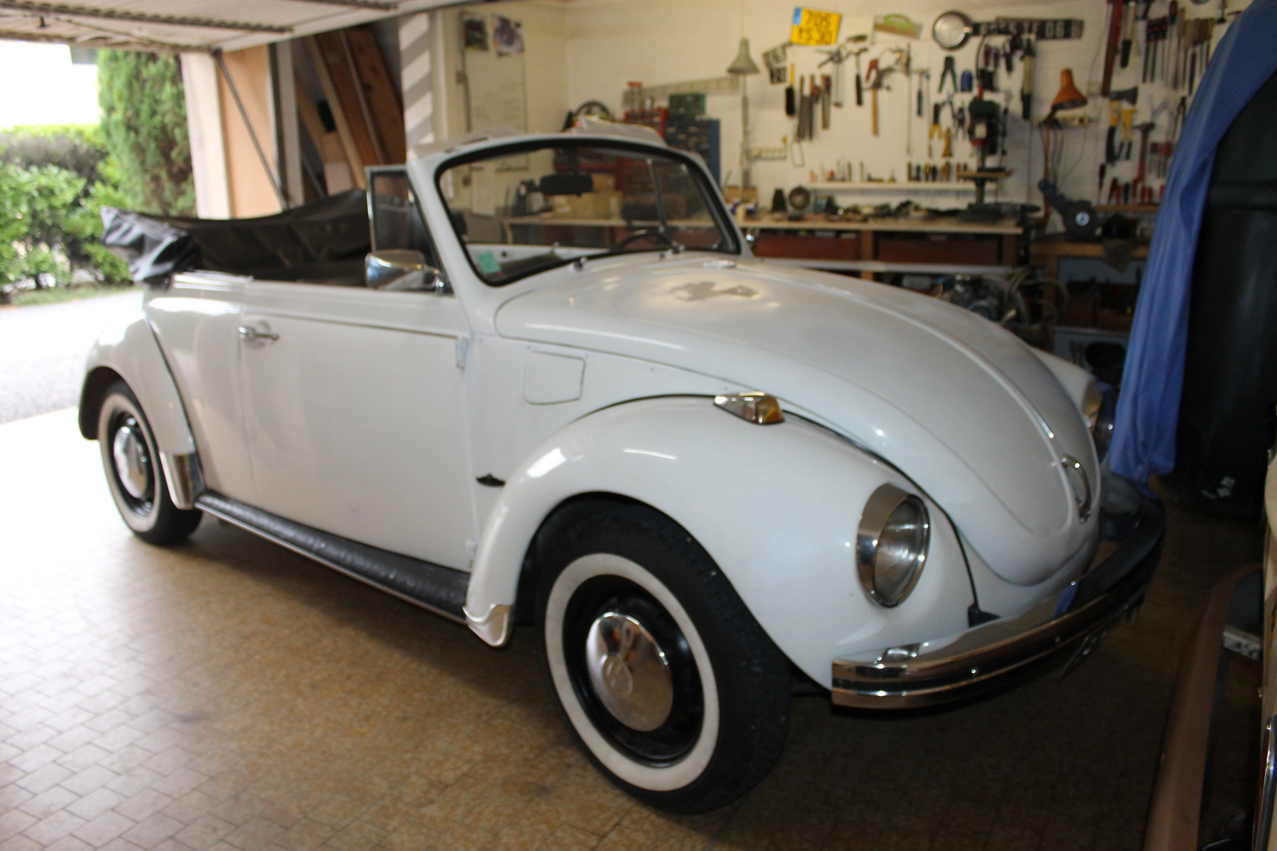 coccinelle cabriolet blanche flat4me mes vw aircooled cox combi. Black Bedroom Furniture Sets. Home Design Ideas