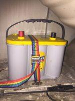 fixation batterie auxilière