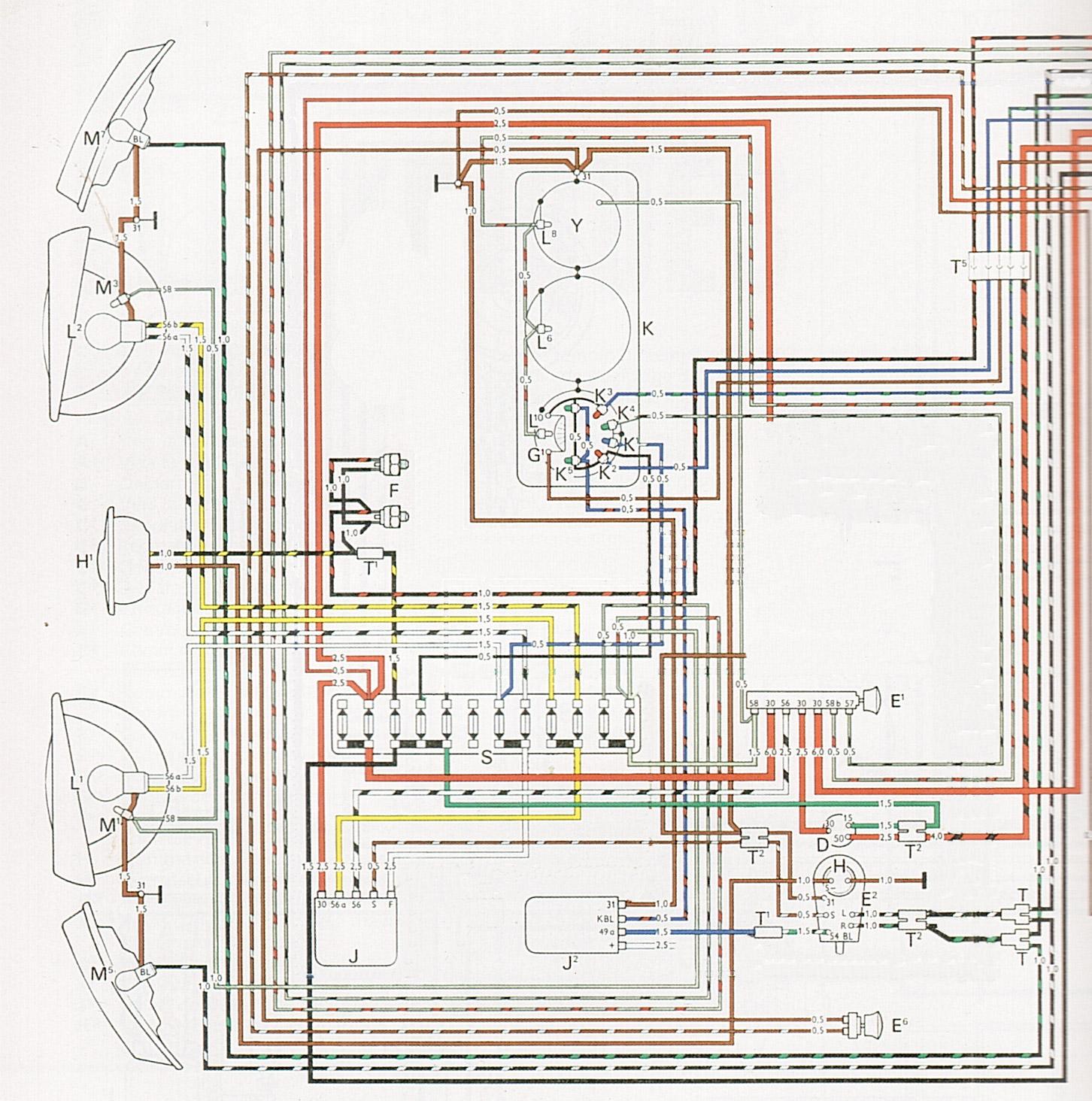 Flat4me mes vw aircooled cox combi mes quatre plat - Schema electrique lumiere ...